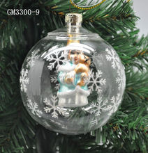 exquisite design and lovely clear glass ball christmas ornaments wholesale