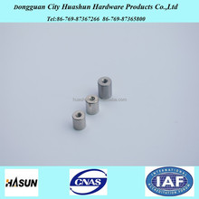 Customized stainless steel threaded round spacers