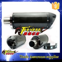 Universal exhaust muffler for motorcycle