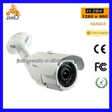 Waterproof 2.8-12MM Bullet IP Camera ONVIF 960P low Lux CCTV webcam (JD-WP512VIP)