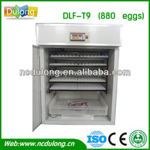2014 CE approved practical and labor saving model DLF-T9 full automatic holding 880 chicken egg incubator price competitive