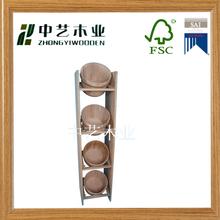 Venda quente wodoen cremalheira de exposição, prateleiras de madeira