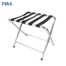 stainless steel hotel baggage rack folding
