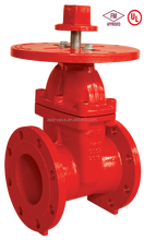 Non-rising FM UL 200PSI Flanged gate valve with round plate