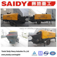 within 15 days delivery time trailer mounted concrete pump