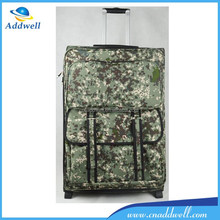 Outdoor camouflage trolley military travel bag