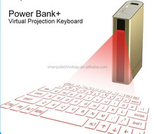 New design Magic Cube Wireless virtual laser bluetooth keyboard with power bank for Tablet Cellphone Trade assurance