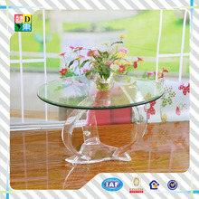 2015 Modern design of clear acrylic round dining table from shenzhen