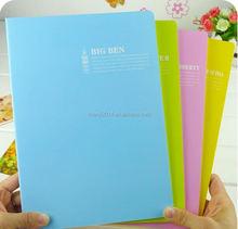 cartoon school cute writing notebook pvc cover,perfect binding notebook,journal/diary