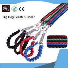 Colorful Nnylon Woven Dog Leash & Collar for Large Dog