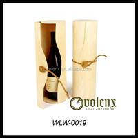2015 Birch Venner Single Bottle Cylinder wooden wine box
