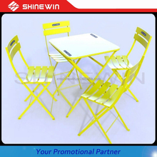customised bistro table and chair with printing for advertising