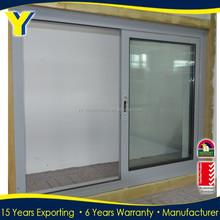 Australia standard aluminum sliding double panel glazed tempered glass windows /office sliding window/opening aluminum windows
