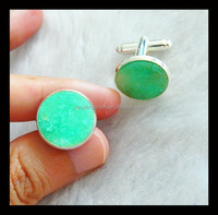 Chrysoprase Cufflink For Mens Shirts