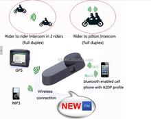 Motorcycle helmet intercomWaterproof 2xBT interphone Bluetooth motorcycle helmet intercom Headset 500M Meters Motorcycle