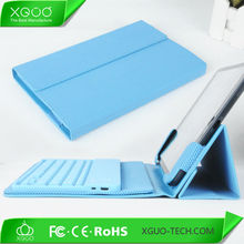 for ipad mini bluetooth keyboard case with pu leather printing