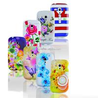 Printed Silicone Soft Rubber Case for Samsung Galaxy S3 Mini