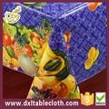 Moderno mantel de plástico para mesas redondas de plástico diseño púrpura mantel pvc