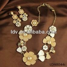 ali express blooming flower arabic bridal jewelry sets