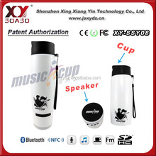 8 hours long lasting outdoor bluetooth speaker for bicycle, music cup, sports bottle