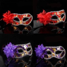 WH-045 Yiwu Caddy Hot sale half face plastic colorful party mask for wedding