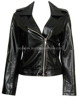 american ladies college jacket,New Design High Quality Black PU Leather Jacket For Women