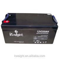 12v 250Ah lead acid gel battery deep cycle gel battery for solar/wind system