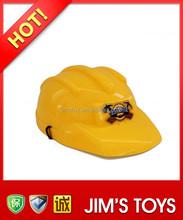 Yellow Helmet for Children Plastic Toy Construction Safety Helmet