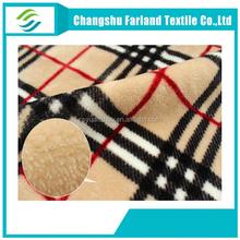Plaid flannel fleece blanket/fabric,soft baby blanket/fabric