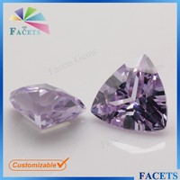 Facets Gems 2015 New Product Synthetic Stone Lavender Trillion Cut Iranian Gemstones