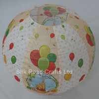 Hot selling round paper lantern with colorful printing