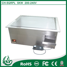 temperature resistant commercial electric flat top grill