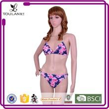 Latest Pretty Push Up Flower Sexy Asian Women In Bikini Swimwear