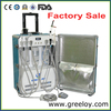 Suitcase Portable Dental Unit with LED Curing Lamp and Woodpecker Ultrasonic Scaler