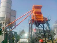 stationary HZS25 precast cement dry mix concrete batch plant