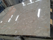Scratching resistant hygienic 1.6cm thick custom artificial marble countertop