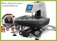 2015 New!Cloths Phone case Mug Plate Stone Crystal Printer 3d Automatic dye sublimation heat press machine