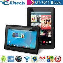 7inch Tablet android 4.2 two core1.5ghz built 4G rom 512MB ram TF 5MP G sensor 3D WIFI font Single camera Black color