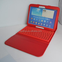 DIHAO leather Case Cover with silicone bluetooth keyboard for Samsung Galaxy Tab 3 Tablet
