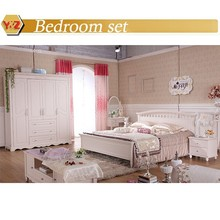2015Contemporary Timber Bed,Korea Girl's Bedroom Furniture Bed Wood Frame