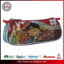 Custom printed fashion school pencil pouch with zipper