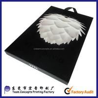custom black magnetic closure gift box