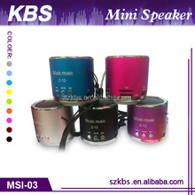 Top Sale Portable Mini Speaker With Compatible USB/FM