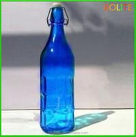 1 liter blue color glass bottle for tequila
