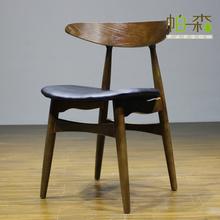Hans Wegner Wood Chair / Wood Dining Chair / Wooden Furniture y8056