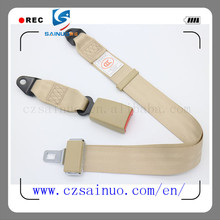 Adjustable two-point safety belt used for minibus and minivan