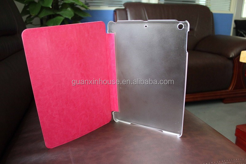 For ipad5 with PC clear one-piece shell seventy percent off leather