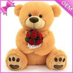 "18"" Sitting Size Soft Long Plush Stuffed Teddy Bear, Stuffed Plush Bear Teddy, Cheap Stuffed Bear Toys"