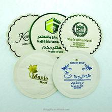 custom bulk beer drink Mats/wholesale cheap absorbing paper Pads coasters/paper beer coasters for sale