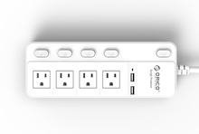ORICO SPC-S4U2 US socket power strip surge protector 4 outlet with 2 charging port